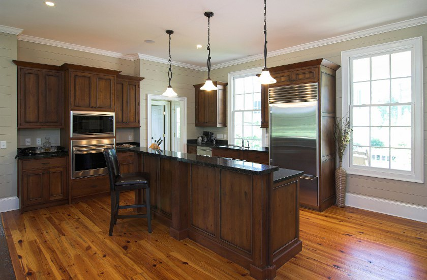 Laminate Flooring In A Kitchen kitchen with brazilian cherry hardwood flooring Flooring Chicago 113